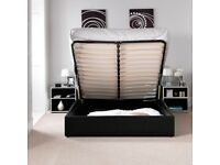 💛💛CHEAPEST PRICE EVER💛💛DOUBLE LEATHER STORAGE BED FRAME GAS LIFT UP WITH CHOICE OF MATTRESSES