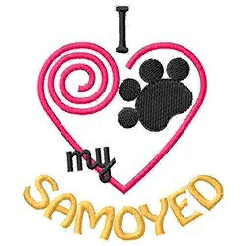 "I ""Heart"" My Samoyed Ladies Fleece Jacket 1446-2 Size S - XXL"