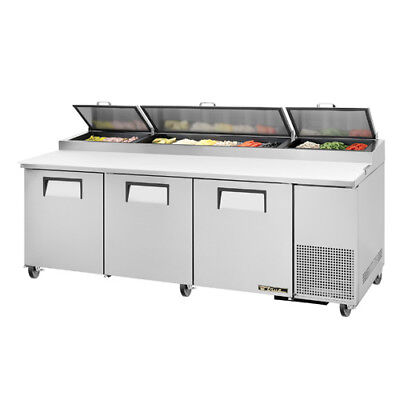 True Tpp-93 Pizza Prep Table For 12 Pans - Three Door 93w