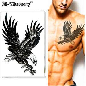 USA-SELLER   Waterproof Temporary Tattoo GUN EAGLE FLASH STICKER ARMY Body Art A