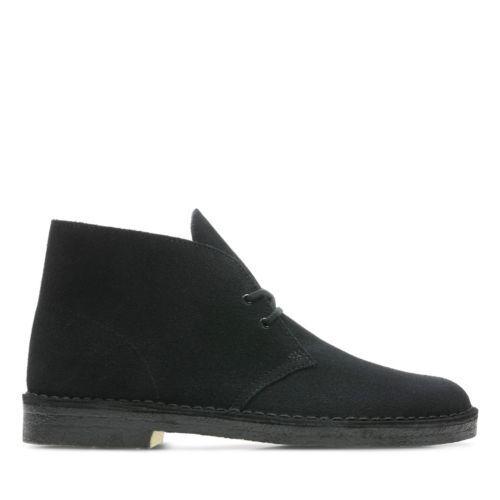 Clarks Originals Desert Boot Men's Black Suede Casual Shoes  26138227 1