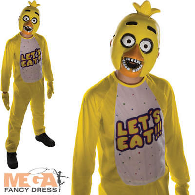 Chica Fancy Dress Kids Childs Five Nights at Freddy's Boys Halloween Costume New](Girl Freddy Costume)