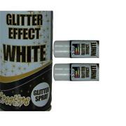 White Glitter Spray