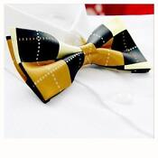 Yellow Black Bow Tie