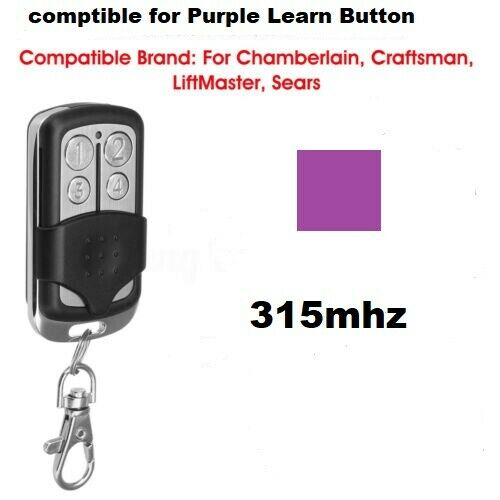 LiftMaster Craftsman Garage Door Opener Mini Remote Part For Purple Learn Button