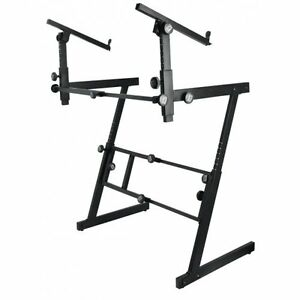 ON STAGE    DOUBLE KEYBOARD STAND