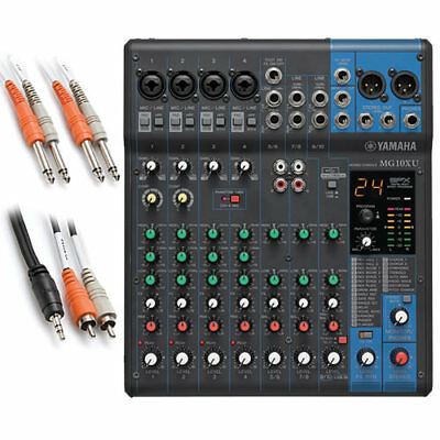 Yamaha MG10XU 10-Channel Compact Stereo Mixer and USB Audio Interface BONUS PAK for sale  Franklin