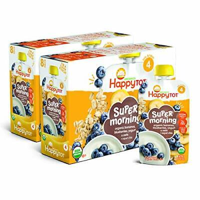 Happy Tot Organic Stage 4 Super Morning Organic 4 Ounce Pouch (Pack of 8)