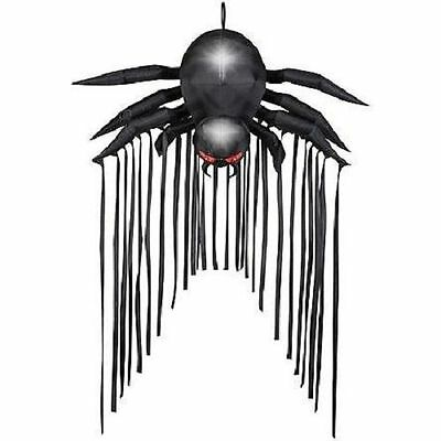 HALLOWEEN DOOR ARCHWAY BLACK SPIDER HAUNTED HOUSE  INFLATABLE AIRBLOWN 6.5 - Halloween Inflatable Spider Archway