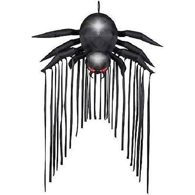 HALLOWEEN DOOR ARCHWAY BLACK SPIDER HAUNTED HOUSE INFLATABLE AIRBLOWN 6.5 FT