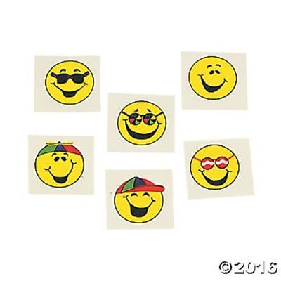 72 Smile Happy Emoji Face Temporary Tattoos Party Favors Gifts ](Tattoo Emoji)