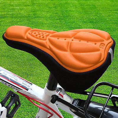 Bike Saddle Silicone Seat Saddle Bicycle Cushion Cover Soft Gel 3D Pad New