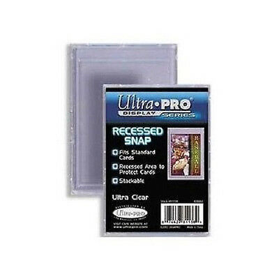 Recessed Snap (25 Ultra-Pro Recessed Snap Card Holders Lot  Regular Size Cards New)