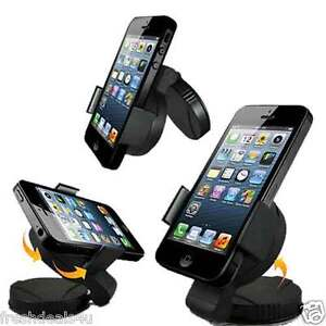 360° WINDSCREEN in CAR KIT MOUNT HOLDER CRADLE FOR APPLE IPHONE 6 5 5C 5S 4S