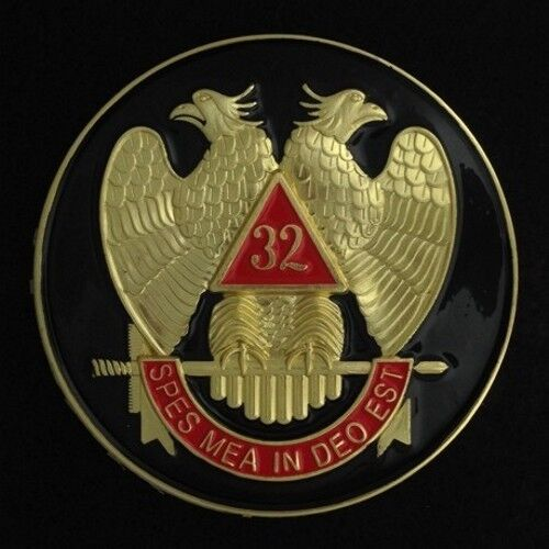 Masonic 32nd Degree Car Auto Emblem (Black) SRA-2