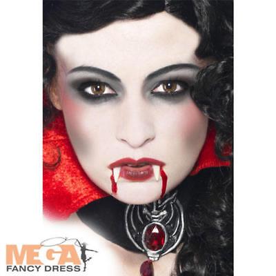 Vampire Make-Up set w/ Fangs Halloween Mens Ladies Fancy Dress Costume - Vampire Dress Up Kostüm