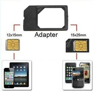 Micro SIM Card Adapter Converter for iPhone 4S, Galaxy S5 ...