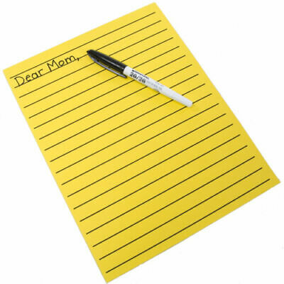 Yellow Bold Line Writing Paper - 8.5 X 11 Inches Low Vision Pads Thick Lines