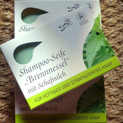 Saling Shampoo-Seife Brennnessel Schafmilch 125g Haarseife Haarwaschseife Bio