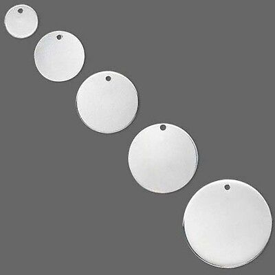 Round Blank Sterling Silver Jewelry Charm Pendants For Stamping Small - Big](Small Charms)