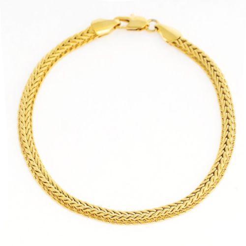 mens solid gold bracelet 18k ebay