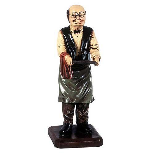Connoisseur Statue - Old Man Butler Statue Holding Tray 2FT - Butler Statue