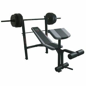 Cap bench rack + preach curl + leg curl + 3 bar + 100 lbs (