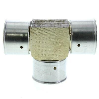 Viega 94080 Zero Lead Bronze 1-12 Pex Press Tee W Attached Sleeve