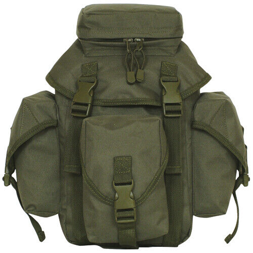 NEW Tactical Military Style Recon Mission 6 Compt MOLLE Butt Pack OD OLIVE GREEN