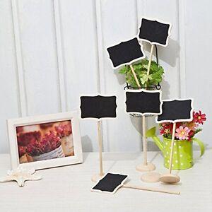 12 x Mini Blackboard Chalkboard Wooden Clip Message Labels Wedding Party Holder