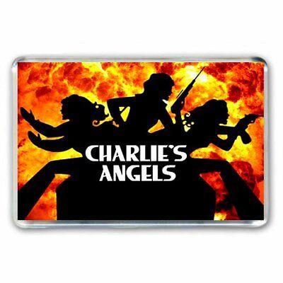 RETRO TV NOSTALGIA - CHARLIES ANGELS  -JUMBO FRIDGE /LOCKER MAGNET