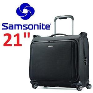 NEW SAMSONITE CARRY ON SUITCASE 78596-1041 213275682 SILHOUETTEXV DELUXE VOYAGER GARMENT BAG BLACK UNITED STATES CARR...