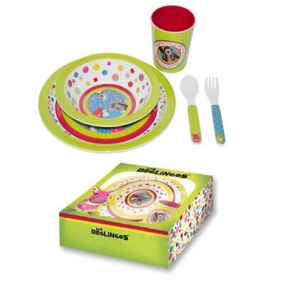 DEGLINGOS MELAMINE DISH SET European Baby Dishes Gift Box NEW  (Melamine Baby Dish Set)