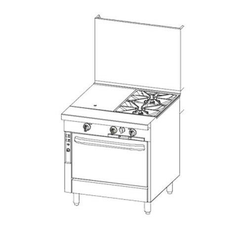 Southbend P32c-hg Heavy Duty Gas Range W/ Hot Top & Griddle Combo