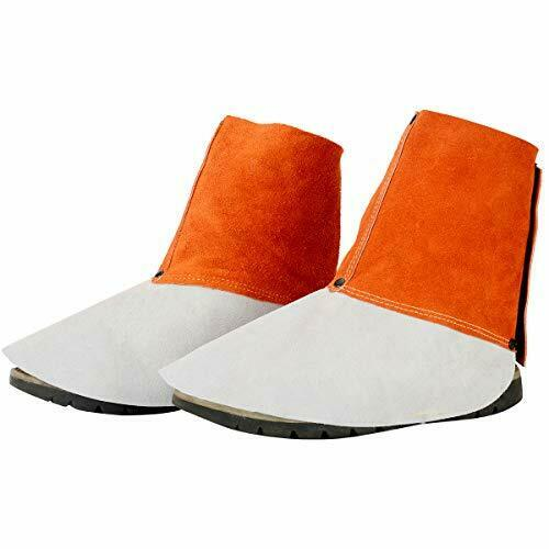 QeeLink Leather Welding Spats - Heat and Abrasion Resistant Welding Boot Covers