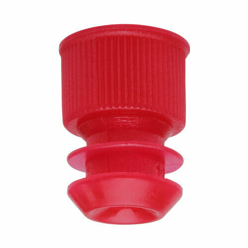 Test Tube Cap, Flange Type, 12mm, Red (Case 20000)