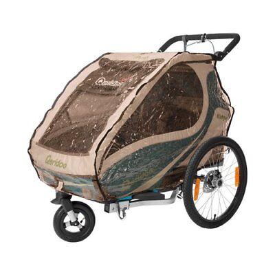 QERIDOO Regenschutz für Kinderfahrradanhänger Kidgoo1 Transportwagen Handwagen