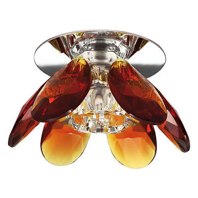 Warm Amber Glas (AMBER Design Glas Einbaustrahler 1,3W LED G4 Einbauleuchte warmweiß/kaltweiß)