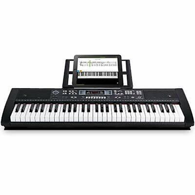 Teclado piano eléctrico 61 teclas con Bluetooth, altavoces incorporados