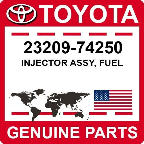 23209-74250 Toyota Oem Genuine Injector Assy, Fuel
