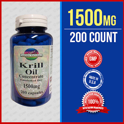Krill Oil Capsules  High 1500Mg  Omega 3 Fatty Acids   Epa  Dha   Astaxanthin