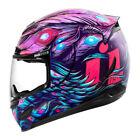 Purple Icon Motorcycle Helmets