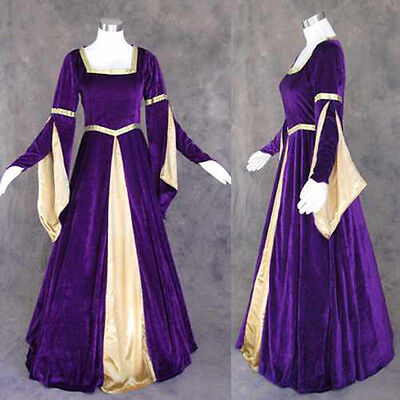 Medieval Renaissance Gown Dress Costume LOTR Wedding L