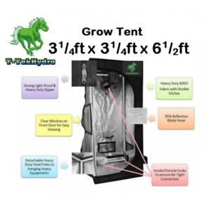 T-TekHydro GROW TENT 3 1/4ft x 3 1/4ft x 6 1/2ft