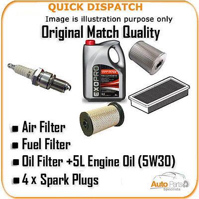 AIR OIL FUEL FILTERS 5L OIL  +4 X PLUGS FOR SKODA FAVORIT 1.3 1993-1995 AOF347