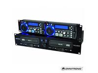 Omnitronic dual cd player xdp-2800 cd/mp3/karaoke player (RRP £345)