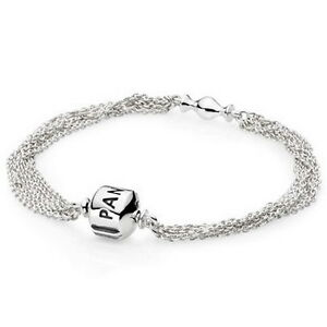 Genuine Pandora S925 Ale 19cm Multi Chain One Clip Bracelet In Official Box