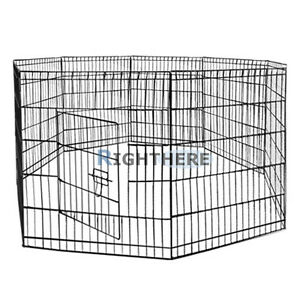NEW-36-8-PANELS-FOLDABLE-ENCLOSURE-FENCE-DOG-PLAY-PEN-RABBIT-CAGE-PET-KENNEL-L