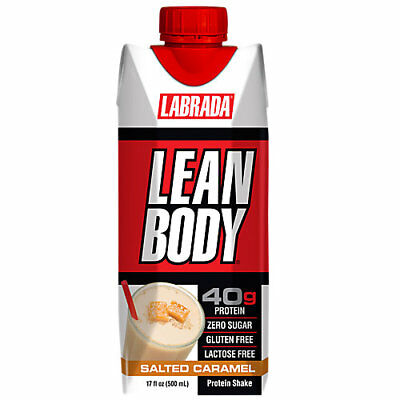 Labrada Nutrition Lean Body Protein Shake - 12 Drinks SALTED CARAMEL
