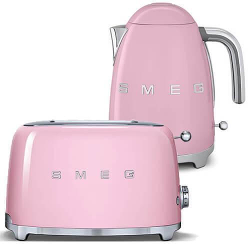 SMEG Retro Pink Kettle & 2 Slice Toaster - KLF03PKUK & TSF01PKUK - Brand New